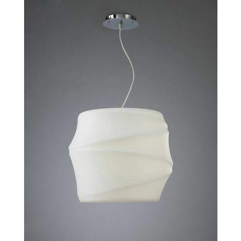 Bambu pendant light 1 Bulb E27 Outdoor IP44, opal white
