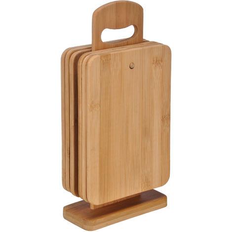 Bambus Bretter 7-tlg. - Frühstücksbrettchen