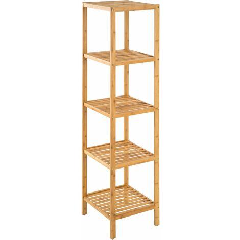 Bambus Standregal 5 Böden - Regal, Handtuchhalter ...