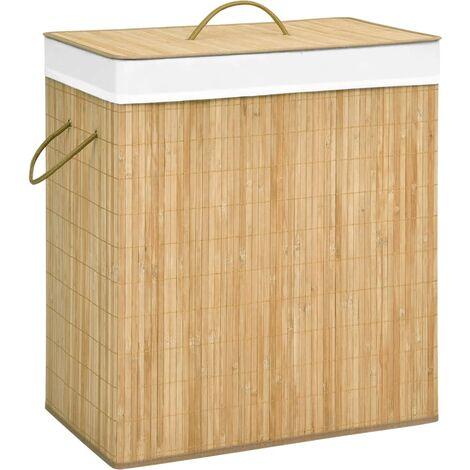 Bambus-Wäschekorb 100 L