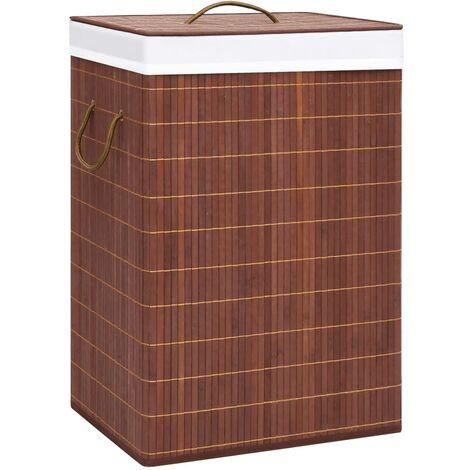 Bambus-Wäschekorb Braun 72 L
