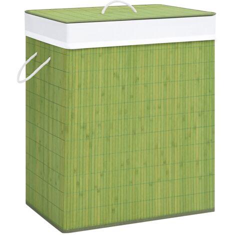 Bambus-Wäschekorb Grün 100 L