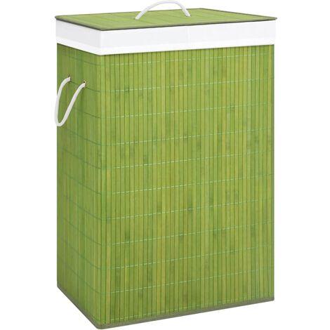 Bambus-Wäschekorb Grün 72 L