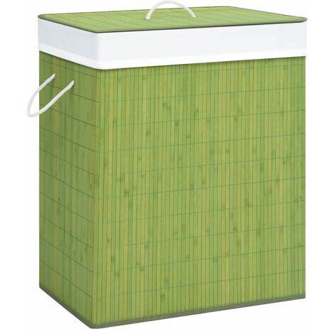 Bambus-Wäschekorb Grün 83 L