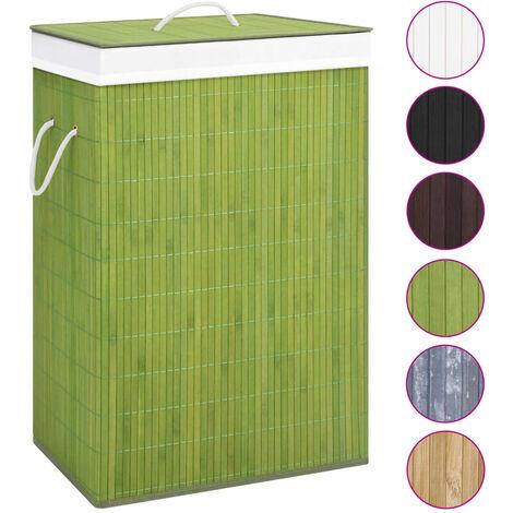 Bambus-Wäschekorb Grün
