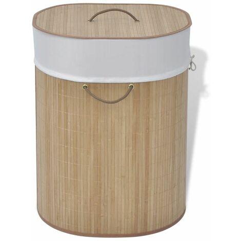 Bambus-Wäschekorb Oval Natur