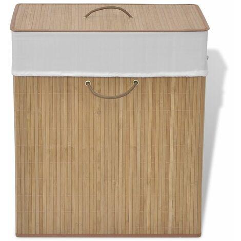 Bambus-Wäschekorb Rechteckig Natur