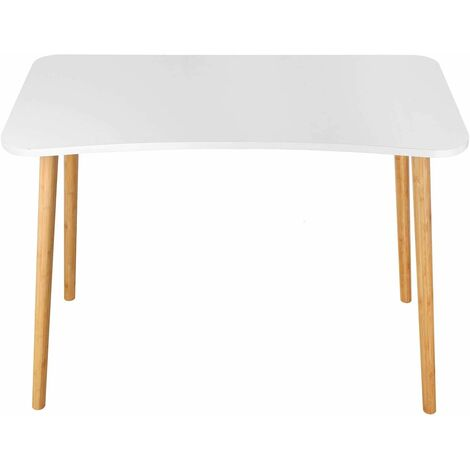 Bamny desk white 100x50x75cm conference table computer table dining table kitchen table dining room table work table office table wood Nordic style modern