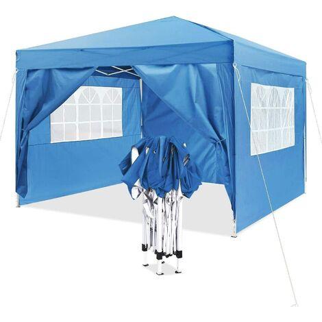 "main image of ""Bamny Gazebo (3 x 3 m, Pop Up Folding Gazebo, Sun Protection, 4 Side Panels, Carry Bag, Party Tent, Garden Gazebo"""