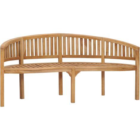 "main image of ""Banana Bench 180 cm Solid Teak Wood23284-Serial number"""