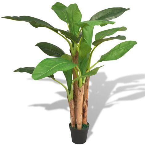Bananier artificiel avec pot 175 cm Vert