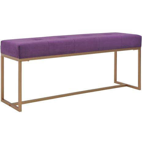 Banc 120 cm Violet Velours