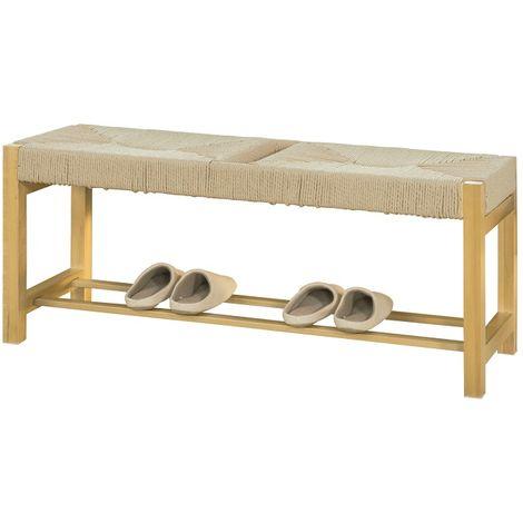 Banc à Chaussures Design Banquette Meuble d'Entrée L110 cm, FSR68-N SoBuy®