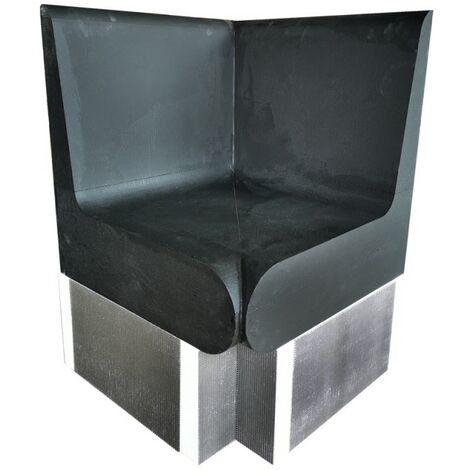 Banc angle arrondis 600 x 586 x 870 mm avec dossier XPS prêt à carreler pour hammam et salle de bain valstorm
