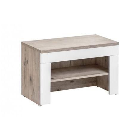 Banc avec meuble à chaussures intégré - GUSTAVO - 60 x 35 x 40 cm