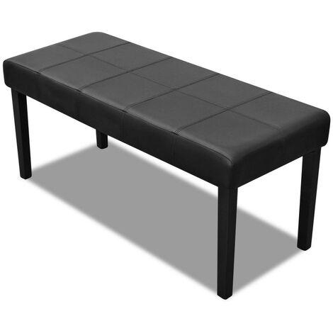 Banc banquette pouf 106 cm noir salon salle à manger chambre - Noir