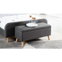 Banc coffre anthracite 100 cm - Collection Dan