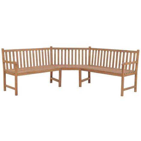 Banc Dangle De Jardin 202x202x90 Cm Teck Solide 44991