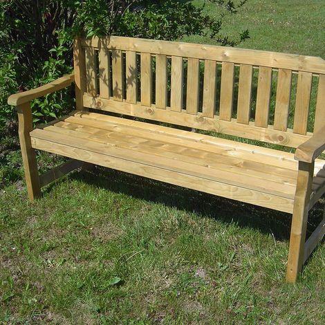 Banc de jardin 4 places en bois traité autoclave, Cortina ...