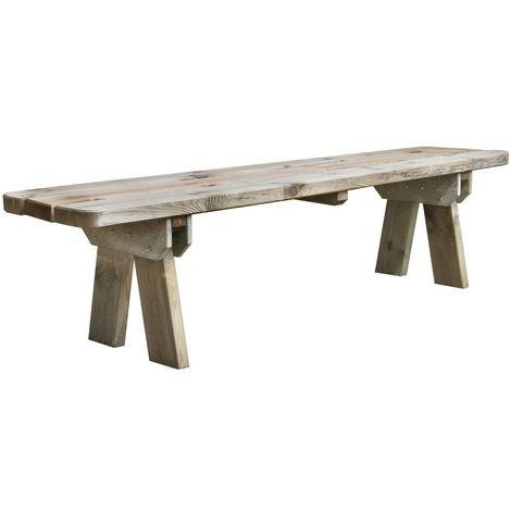 Banc de jardin 4 places en bois traité autoclave, Faro ...
