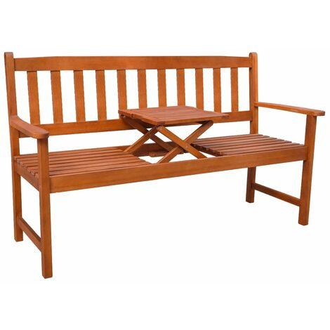 Banc De Jardin Avec Table Escamotable Bois Dacacia 42648