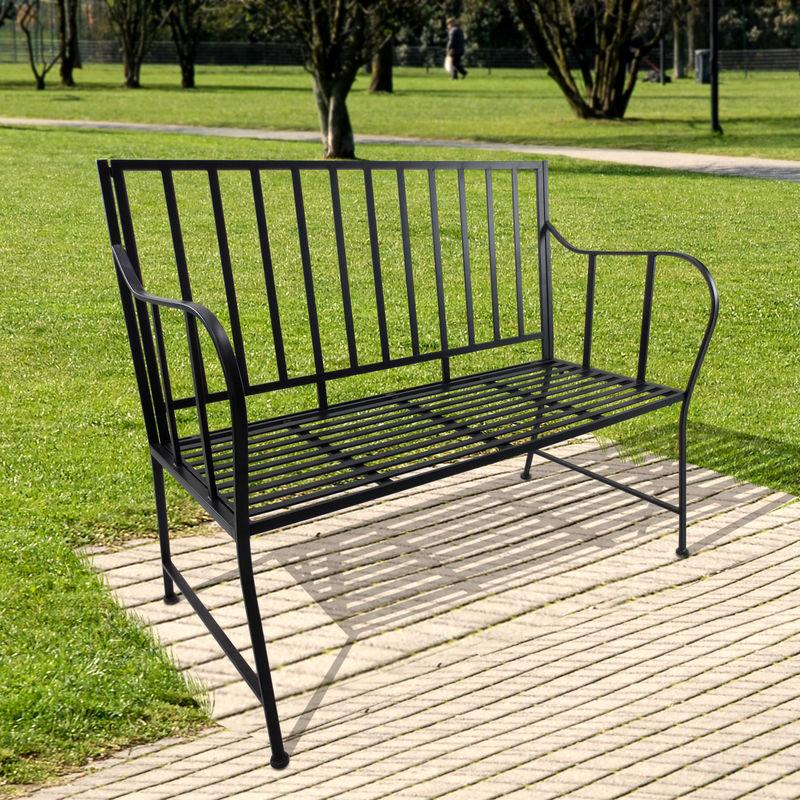 Banc de jardin design contemporain 3 places dim. 117L x 60l x 93H cm ...