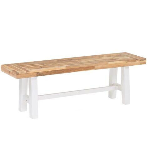 Banc de jardin en bois avec pieds blancs SCANIA