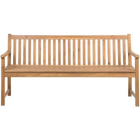 Banc de jardin en bois clair certifié 180 cm VIVARA
