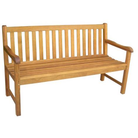 Banc de jardin en bois exotique, de 3 places - Dim : H 89 x L 153 cm ...