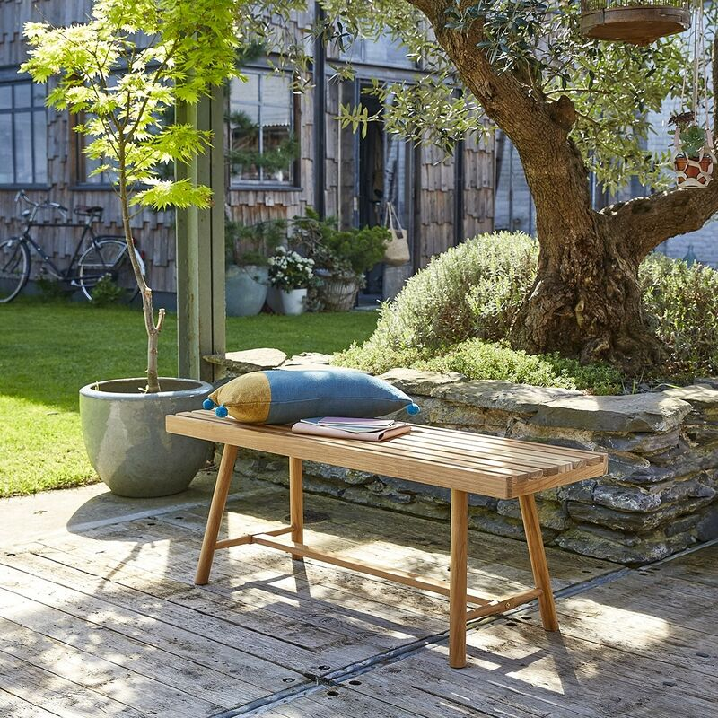 Banc de jardin en teck 120 cm - Marron