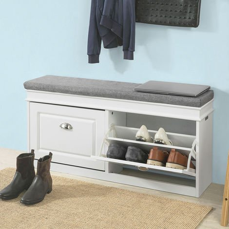 banc de rangement chaussures meuble d 39 entr e avec. Black Bedroom Furniture Sets. Home Design Ideas