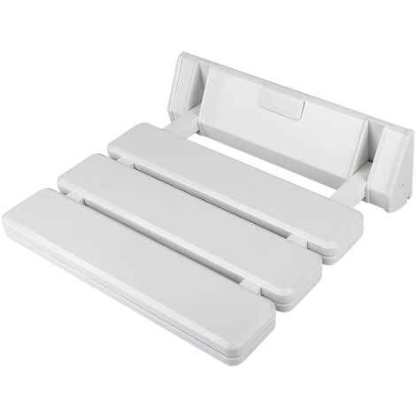 Banc de salle de bains rabattable fixé au mur pour sièges de douche usage domestique salle de sauna(blanc)
