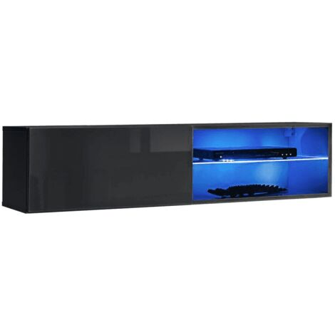 Banc TV mural Switch RTV 4 - L 120 x P 40 x H 30 cm - Gris - Livraison gratuite