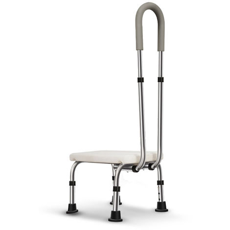 Banch Adjustable Bath Chair Shower Seat Disability Aid Chair Chair Stool Bench Hasaki