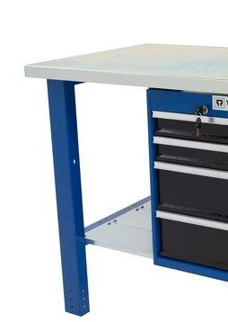 Banco da lavoro Werkmeister 1000 4 cassetti laterali
