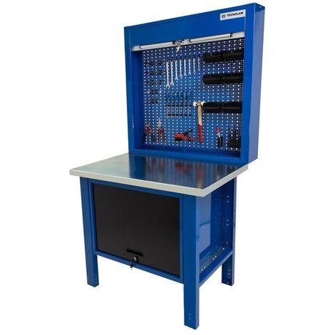 Banco da lavoro werkmeister 1000 Cassettone centrale con anta pannello pratico portautensili con chiusura