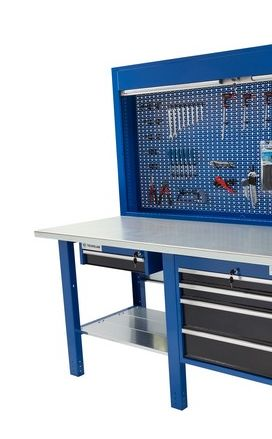 Banco da lavoro Werkmeister 2000 1 modulo 4 Cassetti (720*615*565 )/ 1 Cassetto 600*510*145 pannello posteriore modulo pratico