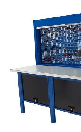 Banco da lavoro Werkmeister 2000/2 cassettoni con anta basculante pannello posteriore modulo pratico