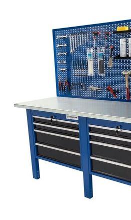 Banco da lavoro Werkmeister 2000 2 moduli da 4 Cassetti (720*615*565)pannello posteriore linea profi
