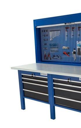 Banco da lavoro Werkmeister 2000 2 moduli da 4 Cassetti (720*615*565)pannello posteriore modulo pratico
