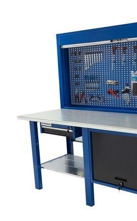 Banco da lavoro Werkmeister 2000/ cassettone con anta basculante 1 cassetto pannello posterioremodulo pratico
