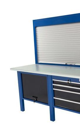 Banco da lavoro Werkmeister 2000/ cassettone con anta basculante 4 Cassetti (720*615*565) pannello modulo pratico