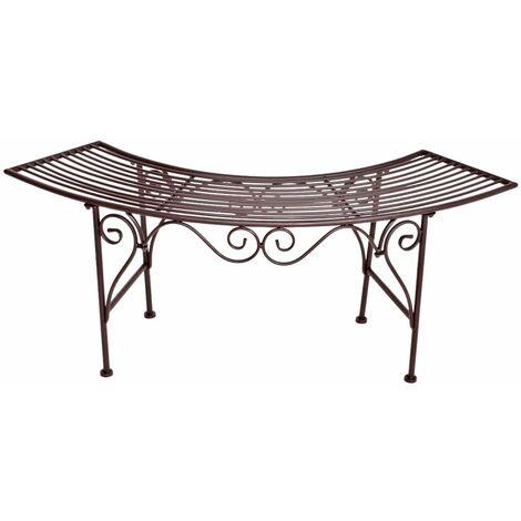 Banco de arco de jardín óptica de óxido noble terrazas al aire libre asientos muebles decoraciones silla Harms 950375