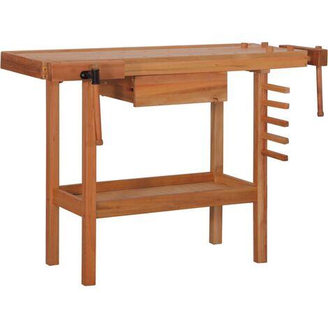 Banco de carpintero con cajón 2 tornillos de banco madera dura