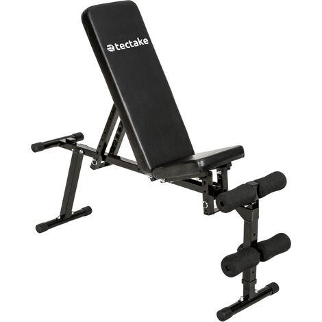 Banco de entrenamiento universal de acero - banco para fitness, banco para ejercicio, banco de musculación - negro