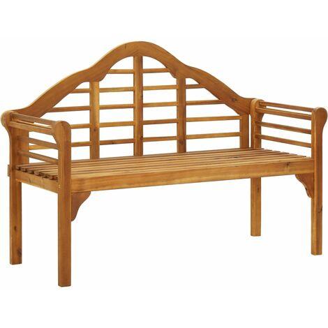 Banco de jardín 135 cm madera de acacia maciza