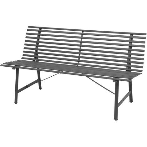 Banco de jardin 150 cm acero gris antracita