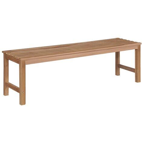 Banco de jardín 150 cm madera maciza de teca