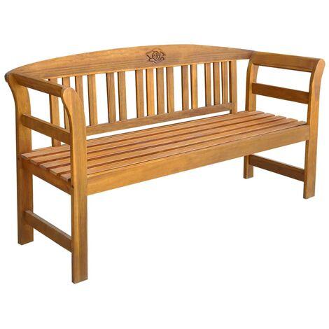 Banco de jardín 157 cm madera acacia maciza