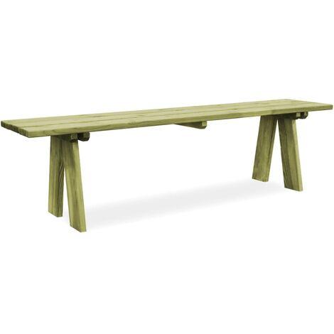 Banco de jardín 170 cm madera de pino impregnada
